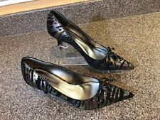 "J RENEE Sparkle Zebra Print Elegant High Heels Womens Shoes Pumps Sz 7.5 N ""Tami"