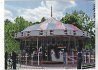 "*Postcard-""Antique Carousel"" ...@ Lakeside Park, Wisconsin  -CLASSIC (V-19)"