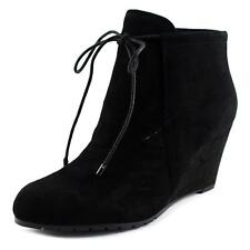 Easy Spirit Caterina Wedge BOOTIES Black Faux Suede 9w