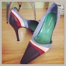 RIVER ISLAND BLUE/PURPLE STRIPE STILETTO BAMBOO Size 5 BOXED STUNNING SOLD OUT