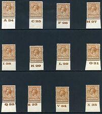 Lightly Hinged British George V Stamps