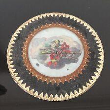1820 FIXE SOUS VERRE Ange Putti Cherub 19thC Georgian FRENCH EGLOMISE