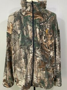 Browning Mens Multicolor Camouflage Real Tree Full Zip Casual Jacket Size 2XL