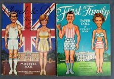 Chuck & Diana Have Baby + First Family Ronald & Nancy Reagan Paper Doll Cut Out