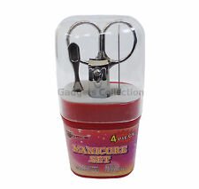 4in1 Manicure Pedicure Beauty Tool Set Nail Clipper File Cuticle Pusher Scissors