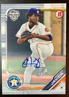 CRISTIAN JAVIER 2019 Topps Holiday Autograph Rookie RC Auto SP /99 #TH-CJ ASTROS