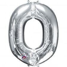 """Lettera o Argento Foil Balloon 16"""" 40cm Aria Riempire Nome Età Compleanno Anniversario"""
