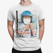 Steve McQueen T-Shirt Le Mans 24 Racer Japanese Poster Retro Car Track Racing