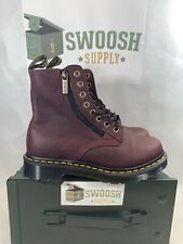 Dr. Martens Women's Pascal with Zipper Combat Boot Cherry Red Size 6 NEW
