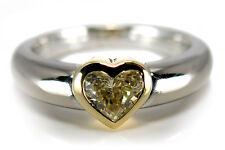 Ring von WEMPE Herzschliff Diamant FANCY 750/- Weißgold / Gelbgold[BRORS 11717]
