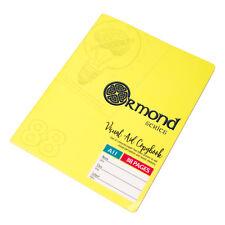 Confezione da 5 aiuto memoria A5 GIALLO 88 pagine di carta Notebook Tsunami Foderato Scrittura Pads
