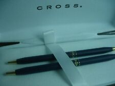 CROSS LADIES BLUE   BALLPOINT PEN &  0.5 PENCIL SET NEW IN BOX  MADE IN  USA