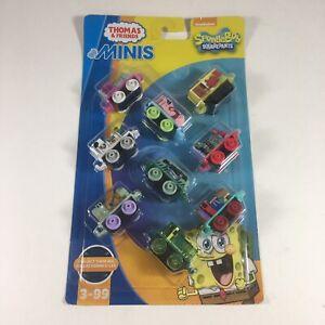 SPONGEBOB SQUAREPANTS Thomas & Friends Train MINIS 9-Pack Plankton SANDY Mr Krab