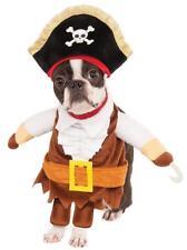 Walking Pirate Caribbean Captain Fancy Dress Up Halloween Pet Dog Cat Costume