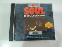 25 Soul Survivors Sam & Dave James Brown Drifters Dells Tams CD - 2T
