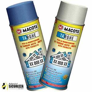 Spray vernice smaltata per targhe rinnova manutenzione veicolo in blu/bianco 400