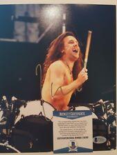 Lars Ulrich Signed Metallica 8x10 Photo - BAS COA