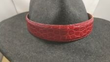 Western cowboy cowgirl RED Alligator gator skin hatband hat band adjustable NWOT
