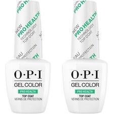 Lot of 2 Opi Nail Gel lacquer Nail Polish - Pro Health Top Coat #Gc040 .5oz