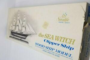 Vintage Wood Scientific Model The Sea Witch Clipper Ship Unbuilt IOB Box Open