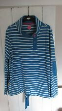 joules 18 fleecetop, blue and white horizontalstripes.