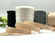 10mm bra strap elastic lingerie knickers satin plush black white nude grey 1cm