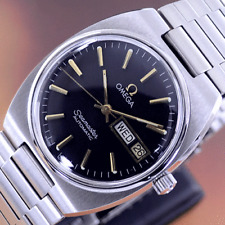 VINTAGE OMEGA SEAMASTER AUTOMATIC BLACK DIAL DAY&DATE DRESS MEN'S WATCH