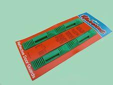CAR VAN REFLECTIVE DOOR EDGE PROTECTOR GUARDS X2 Green + AMBER REFLECTORS