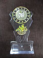 gold karate insert trophy award tall flame acrylic