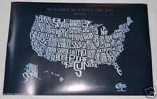 Bud Light 2013 concert poster Dierks Bentley Sevendust Gaslight Anthem Mastodon