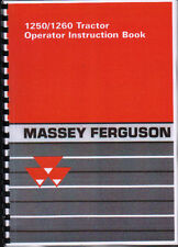 Massey Ferguson 1250/1260 Compact Tractor Operator Instruction Manual Book