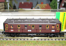 Minitrix carrozza di 3° classe a 3 assi delle K.P.E.V. art. 13304