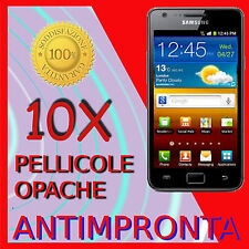 10 Pellicola Per Samsung I9100 Galaxy SII Opaca Antiriflesso Proteggi Pellicole