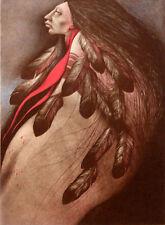 Frank Howell Plains Wind Original Color Lithograph Hand Signed Artwork MAKEOFFER