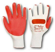 120 PAIRS LATEX COATED WORK SAFETY GLOVES GRIP BUILDER PAVER WITH BONE PROTECTIO