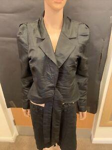 Roman Originals Black Tie Up Long Sleeve Top - UK Ladies Size 14