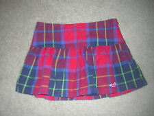 NEW HOLLISTER JUNIOR MINI SKIRT RED PLAID SIZE 3 New/NWT