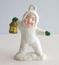 Christmas Ornament Snowman Baby Holding Lantern  3 inch