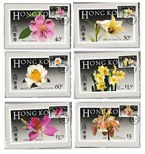 Hong Kong Flowers First Day Cancelled Postcard set A 1985