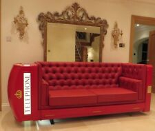 RED TELEPHONE BOX BOOTH KIOSK SOFA K6  / LOUNGER X FACTOR CONTESTANTS HOUSE BT