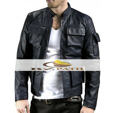 Star Wars The Empire Strikes Back Han Solo Black Leather Jacket