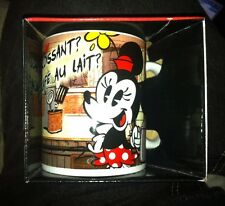 Croissant de Triomphe MICKEY & MINNIE MOUSE Shorts 11 oz. Disney Coffee Mug, NEW