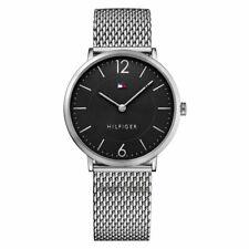 New Tommy Hilfiger Ultra Slim Quartz Movement Black Dial Men's Watch 1710355