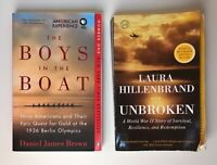 The Boys in the Boat by Daniel James Brown & Unbroken by Laura Hillenbrand ~WWII