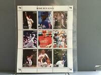 Tuva Baseball Greats mint never hinged   stamps  sheet R25340