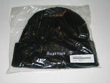 SUPREME New York Cashmere Beanie BLACK Winter Hat Cap NEW F/W 2019