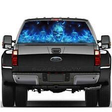 Truck SUV Jeep Pickup Rear Window Flaming Skull Sticker Decal Accessories 58