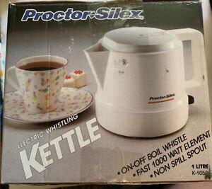 Proctor Silex K1050 Electric Whistling tea Kettle teapot 1 liter=33oz