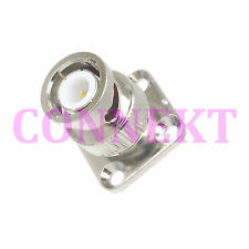 1pce BNC male plug 12.7mm flange deck mount solder cup RF connector