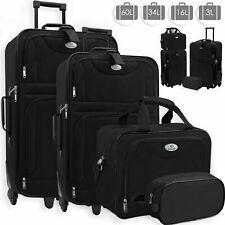 RETOURE Trolley Kofferset Black Reisekoffer Set  mit Rollen 4er Set Black